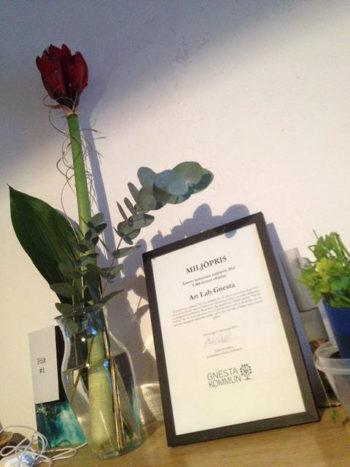 Art Lab Gnesta tilldelas Gnesta kommuns miljöpris 2012