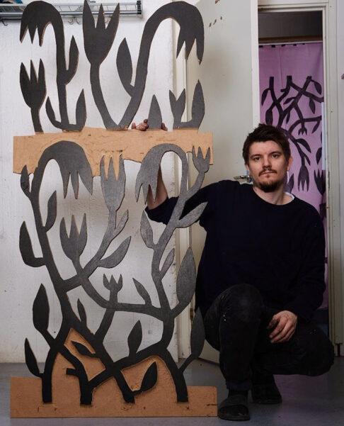 Konstnären Olle Halvars